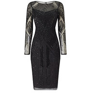 Adrianna Papell Beaded Cocktail Dress Black