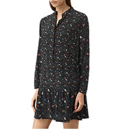 AllSaints Lin Rose Dress Black