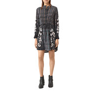 AllSaints Sanko Prairie Dress Black