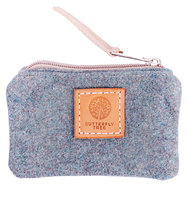 Butterfly Tree Wool Coin Purse Teal