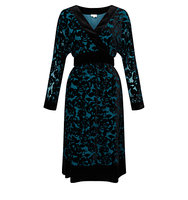 East Rhiannon Devore Dress Teal