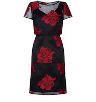 Fenn Wright Manson Petite Kaleidoscope Dress Red