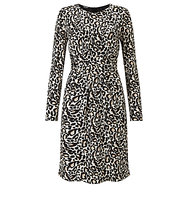 Gerry Weber Leopard Print Dress Ecru White Black