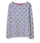 Joules Harbour Print Jersey Top Navy Spot