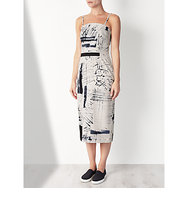 Kin by John Lewis Limited Edition Hand Drawn Strapless Dress Black White