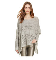 Polo Ralph Lauren Poncho Inspired Jumper Grey Melange