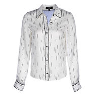 Yanny London Contrast Piping Shirt White