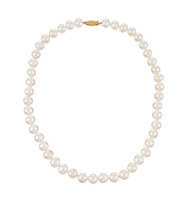 14k 9 10mm Cultured Pearl Necklace