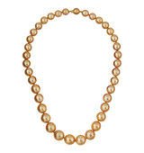 14k Graduated Golden South Sea Pearl Necklace