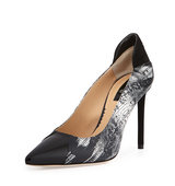 Academy Printed Leather Pointed Toe Pump