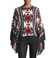 Aztec Dreams Fringed Sweater