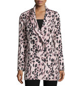 Double Breasted Feline Print Coat
