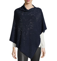 Embellished Asymmetric Poncho Top