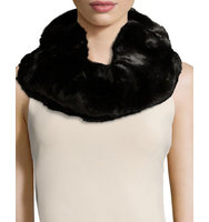 Faux Fur Double Loop Neck Warmer