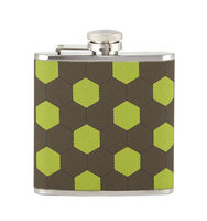 Honeycomb Print Fabric Flask