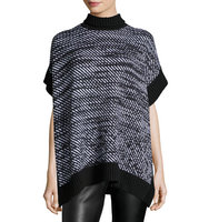 Houndstooth Twill Poncho