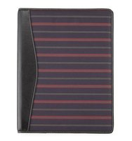 Striped Fabric Folio