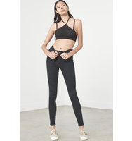 Black Applique Halter Neck Bralet