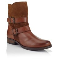 Aldo Pull On Leather Ankle Boots
