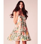 Vila Botanical Print Strappy Dress