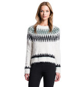 1 State Eyelash Fair Isle Sweater