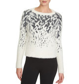 1 State Patterned Eyelash Sweater