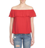 1 State Ruffled Off the Shoulder Top