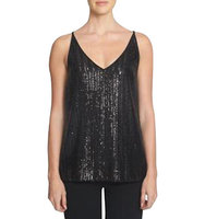 1 State Sequined V Neck Top