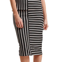 2nd Day Carolina Striated Slim Fit Skirt