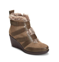 Aerosoles Interview Faux Fur Trimmed Suede Ankle Boots