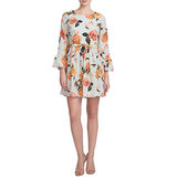 Cece Floral Bell Sleeve Dress