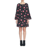Cece Floral Melody Bell Sleeve Shift Dress