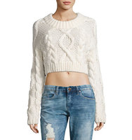 Dkny Merino Wool Cropped Sweater