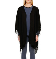 Dkny Open Fringed Cape