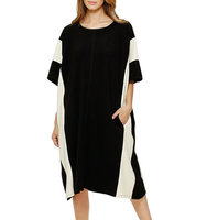 Dkny Scoopneck Caftan Sleeve Dress