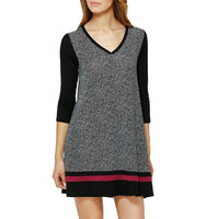 Dkny V Neck Long Sleeve Dress