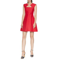 Halston Heritage Silk and Cotton A Line Dress