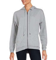Nanette Lepore Laceback Zip Front Hoodie