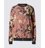 Ms Collection Floral Print Bomber Jacket