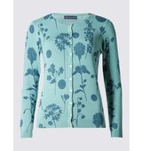 Ms Collection Floral Print Cardigan