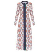Jonathan Saunders Lila Star Print Crepe De Chine Dress