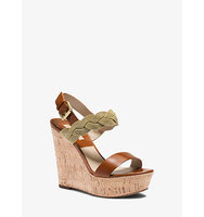 Amelia Chain And Leather Platform Wedge