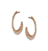 Miss Selfridge Womens Beaded Hoop Earrings Pink