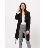 Miss Selfridge Womens Black Drawstring Mac Black