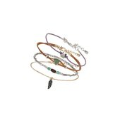 Miss Selfridge Womens Bracelet Pack Cream