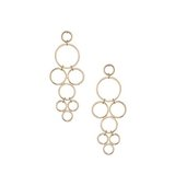 Miss Selfridge Womens Circle Drop Earrings Gold Colour