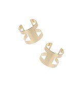 Miss Selfridge Womens Cut Out Double Cuff Gold colour