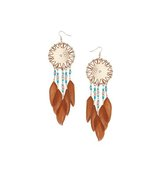 Miss Selfridge Womens Dream Catcher Earrings Blue