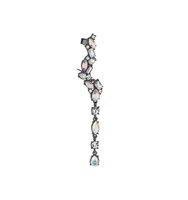 Miss Selfridge Womens Mixed Crystal Stone Earcuff Assorted
