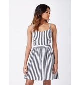 Miss Selfridge Womens Petites Stripe Sundress Ivory